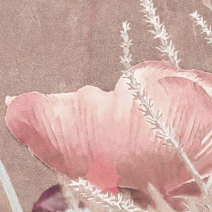 carta da parati shabby poppy