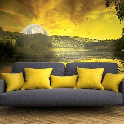 Yellow-sun-rendering