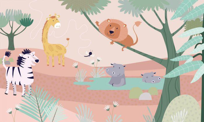 carta da parati Simba